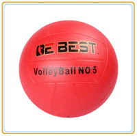 Size 5 rubber volleyball bebest one color rubber volleyball factory produce one color volleyball made in china