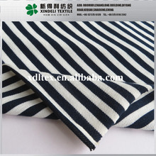 Black and white stripe knitted 210gsm 170cm cloth material fabric 65% polyester, 35% Cotton