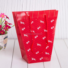 High Quality Handle Flowerpot Cover/Custom Flower bag/handle flowerpot bag