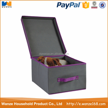 Foldable Storage Custom Fabric Shoe Box for Home Use