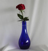 Purple bulb glass bottle for decoration and vase