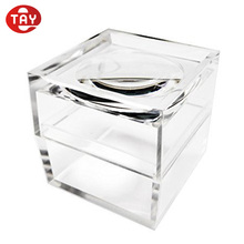 Small clear acrylic box with magnifying lids / Square Bug Viewer Box Magnifier