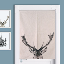 new design black deer ready made window curtain door curtain