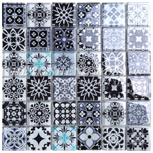 Wholesale Square Blue Moroccan Crystal Glass Mosaic Tile For Hotel Club Decoration Walls