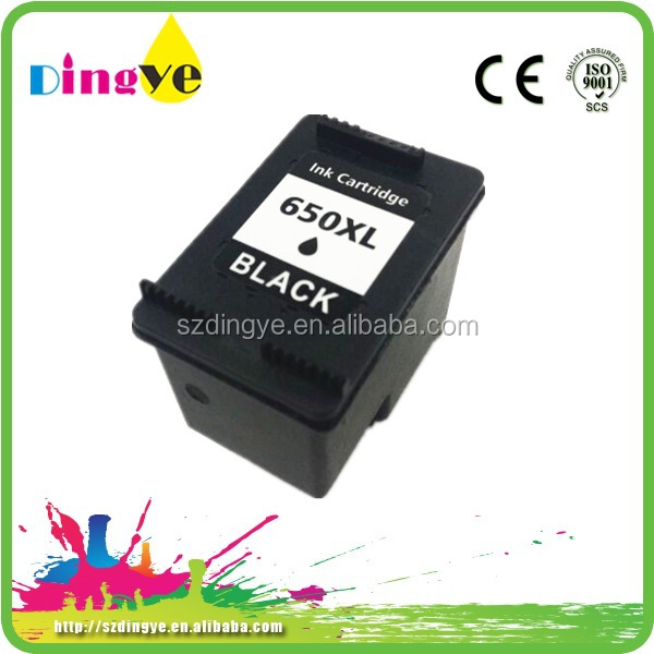 Best Selling Products Chip Reset Full Level Ink Cartridge For HP 650 Inkjet Printer Cartridges And Ink Supplies Cartridge
