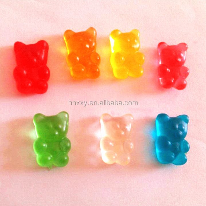 Custom made gummy bear shape assorted fruit flavored sugar free sweets