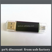 high quality blue 64GB mobile phone usb flash memory