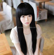 black synthetic hair special inflatable doll wigs