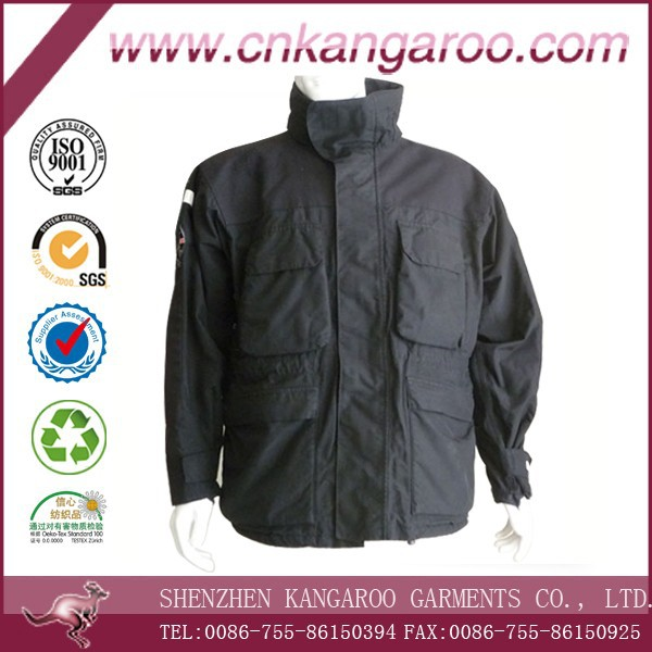 Hot Sale Extreme Cheap 65% Cotton 35% Polyester Black Winter Air Force Army Jacket for Germany/USA