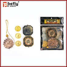 Realistic plastic toy compass pirate play set