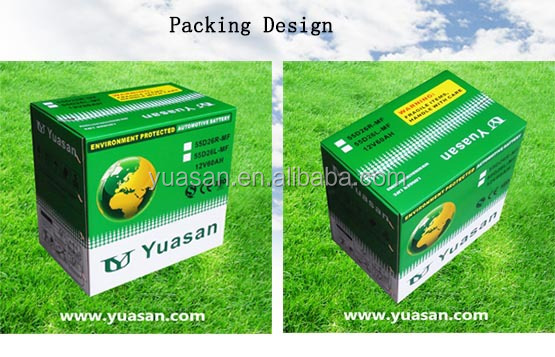 12V60AH Calcium Auto Battery Maintenance Free Lead Acid 55D23L MF 12V Car Battery