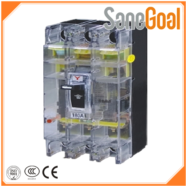 MCCB DZ20le 250A china electric appliance earth leakage circuit breaker 3 pole mccb/ELCB