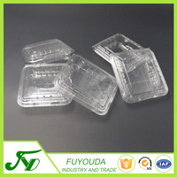 Disposable clear PET plastic clamshell containers for blueberry fruit
