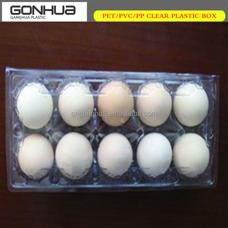 Popular Hot Sale Food Grade Custom Disposable Tableware Supermarket Clear 30 Eggs Plastic Egg Tray Incubator Quail Blister