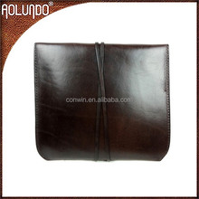Fashion designed small brown genuine leather clutch lady hand bag