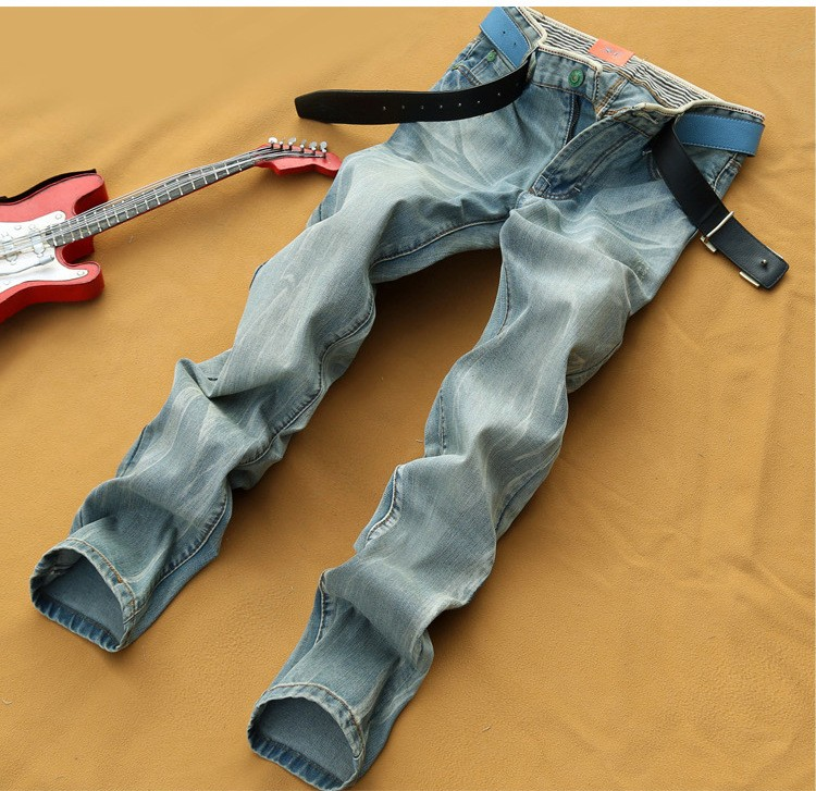 Wholesale China Branded Balloon Bootcut Jeans For Biker Men Low Price