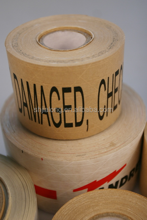 New arrival, water-activated reinforced kraft paper tape JLN-1100 , starch glue