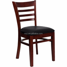 Restaurant Furniture solid wood leather seat dining wooden bistro chairs