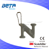 100% PVC good quality Reflective Hanger with Pin and Wire in Gift Package under CE EN13356