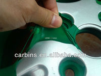 Spray paint masking film for car rims. Peelable instantly