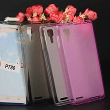 For Lenovo P780 Case Cover,New Diy Colored Transparent Soft Tpu Cover Case For Lenovo P780 Silicone Phone Cover Sheer 4 Color