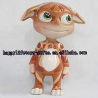 hot sale high quality small gift cat toys mini handmade plastic animal figurines in plastics