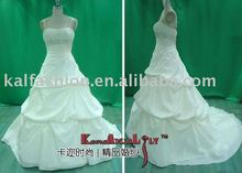 EB8225-5 Petite elelgant spaghetti strap Wedding dress cathedral wedding gown