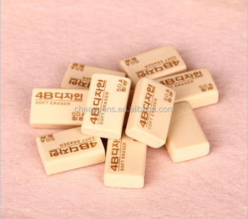 Eco-friendly material eraser wholesale TPR 4b Soft Rubber Pencil Eraser For student