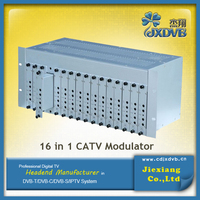 Broadcast Headend CATV Modulator/16 Channels Fixed Analog Modulator