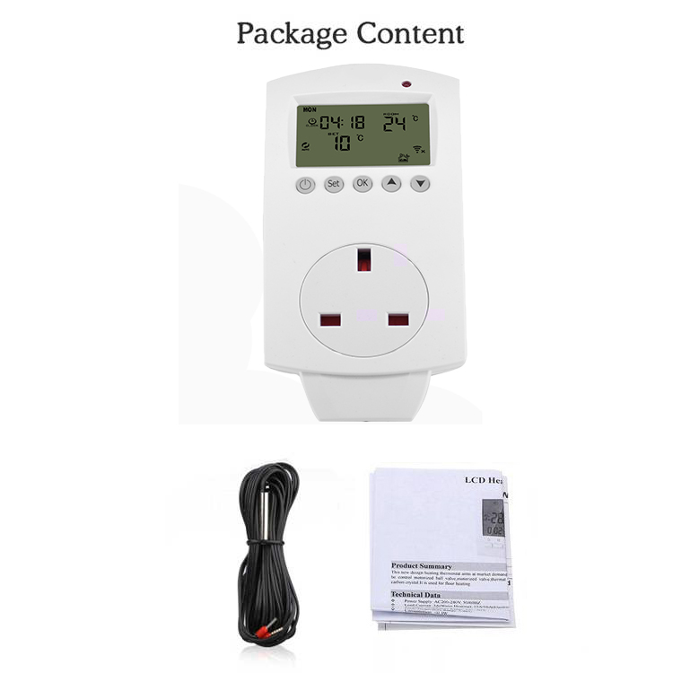 phone alexa wifi socket thermostat plug in with outlet EU/DE/UK/IT