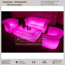 remote controlled LED plastic sofa for living room