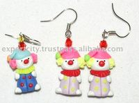 Cartoon Clown earring, Animal Earring Kids, Teens