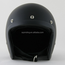 Matte Black Glass Fiber Open Face Old School Vintage Retro Helmet Motorcycle