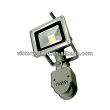 mini cob pir sensor 10 watt IP65 outdoor led flood light