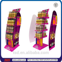 TSD-M221 Custom retail store free standing liquor bottle display stand/display cabinet for alcohol/wine display fixture