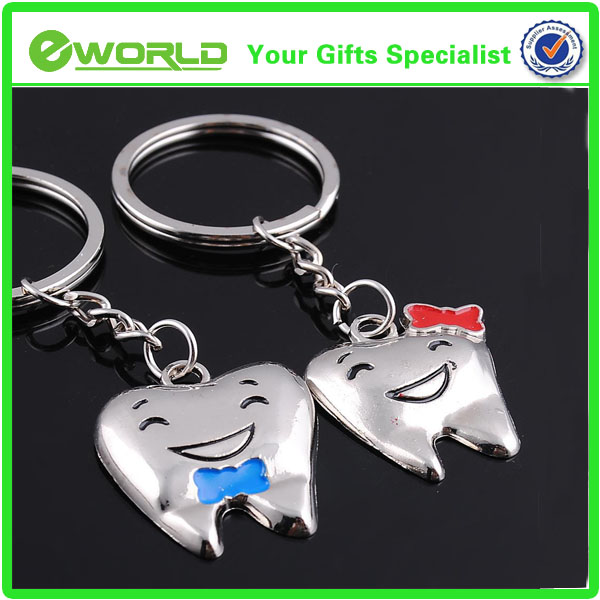 Promotional lovely tooth Shape Key chain,Key ring ,key holder