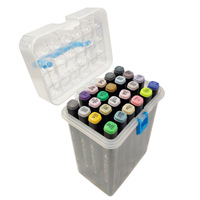 24Colors Art Alcohol Markers Set Markers Brush Tip Sketch Marker Broad Fine Point Pens With Free Pen Case
