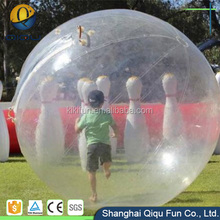 Human land bowling ball game water ball, inflatable water ball, water walking ball for sale