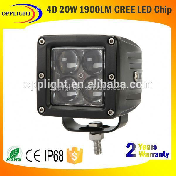 New design 4D work light high irradiation led light cube 20w crees 4x5w led work light