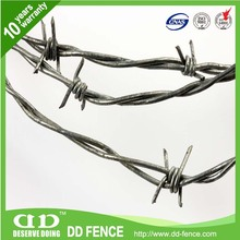 Plastic pvc coated galvanized barbed wire with handle in stock