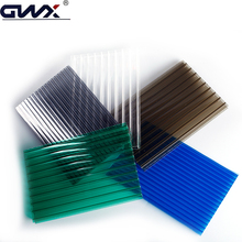 Colorful uv layer protection flat moldable clear plastic sheets polycarbonate hollow plastic cover sheet