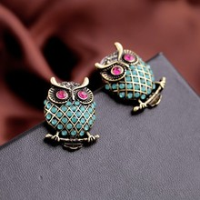 Fashion Trending Big Beautiful Drop Owl Earrings E1721