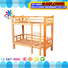 Wooden kids bunk bed warm sweet, up and down stairs kids double deck bed for children