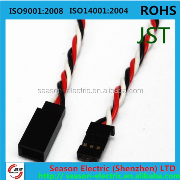 jst sm 2 pin 2.5mm pitch connector male and female with wires
