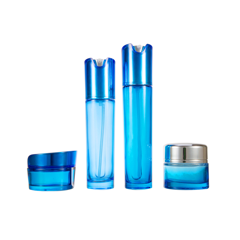 Discount High Quality CE / ISO 60Ml Cosmetic Cream Blue Glass Bottle