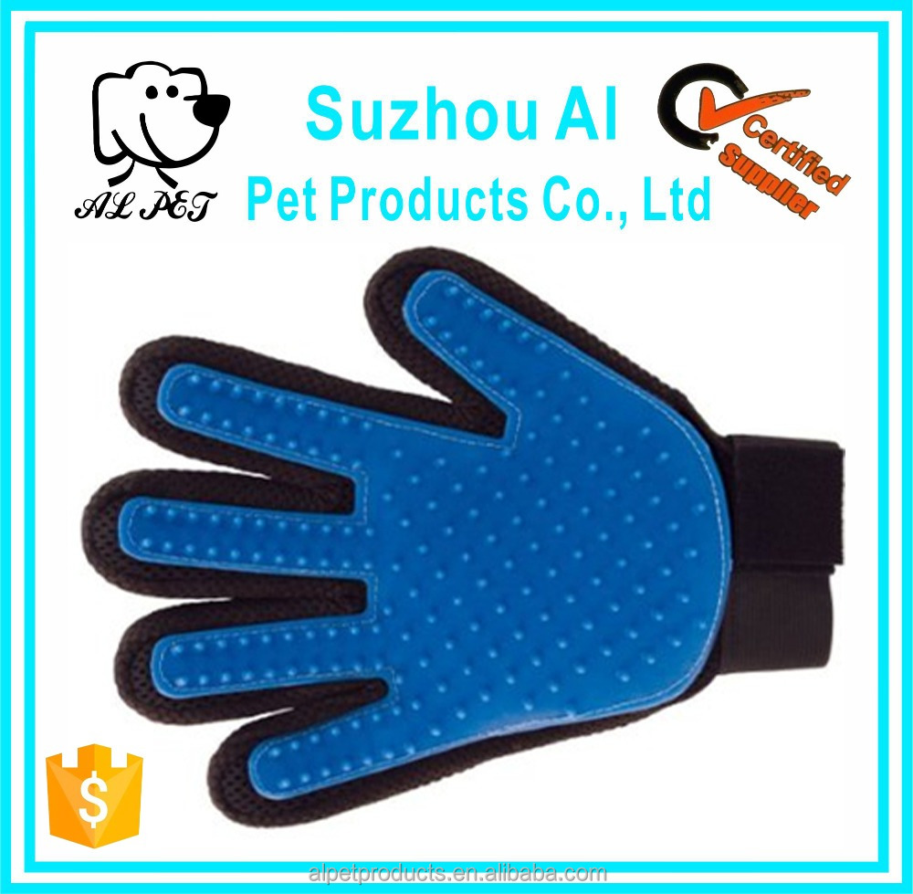 Five Fingers Deshedding Glove Pet Massage Brush Mitt Hair Remover for Gentle and Efficient Pet Dog Cat Grooming