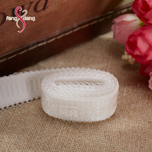Wholesale women jacquard white ribbon custom anti slip webbing elastic band for bra garment webbing tape
