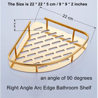 convenient bathroom corner shelf fabrication