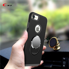 Wholesale Alibaba 360 degrees Rotating Soft TPU Ring Stent Mobile Phone Case for IPhone 7