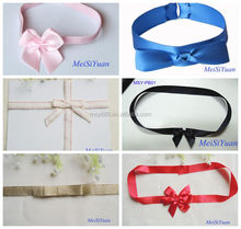 Satin Ribbon Rhinestone Bowknot DIY Craft Wedding Bow Tie Decoration For Candy Box Decoration
